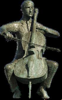 Sculpture, Isolated, Cello, Statue, Artwork, Figure