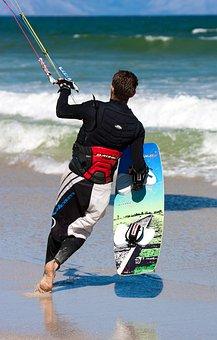 Kiteboarder, Kite Boarder, Kite Boarding, Kite Surfing