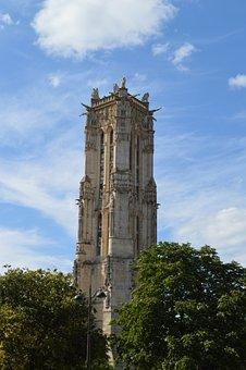 Paris, Tour Saint-jacques, Monument, Heritage, France
