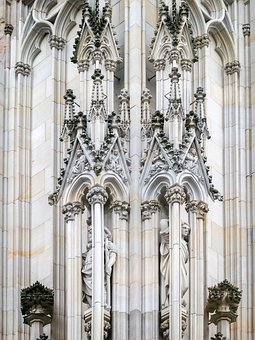 Gothic, Neo Gothic, Pillar, Ornaments