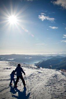 Snow, Skiing, Sky, Travel, Panorama, Sun, Schönwetter