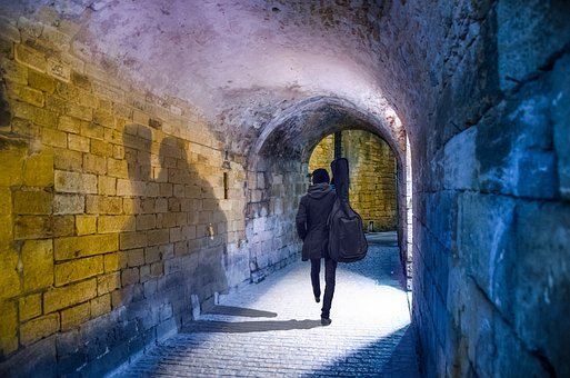 Tunnel, Architecture, Wall, People, Light, Street