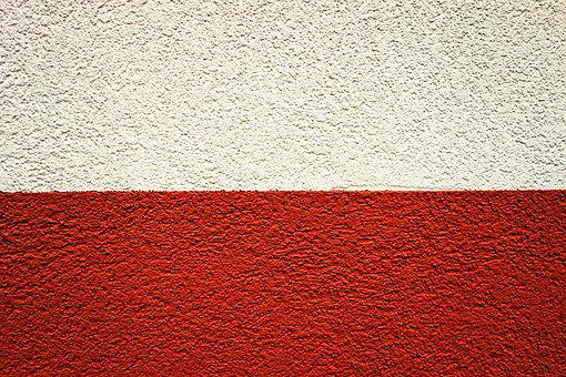 Wall, Concrete, Concrete Wall, Red And White Wall