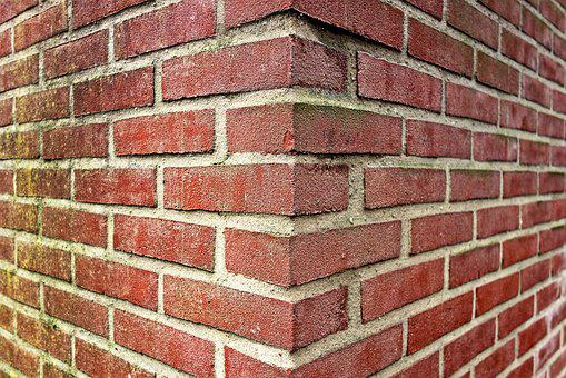 Wall, Brick Wall, Red Brick Wall, Corner, Diverge