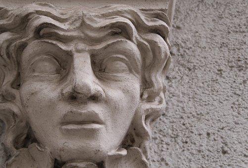 Sculpture, Art, Statue, A, Human, Facade, Augsburg