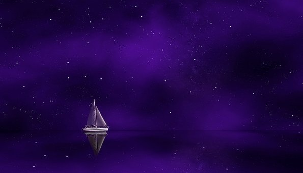 Purple, Ship, Sailing Ship, Sailing Vessel, Boot