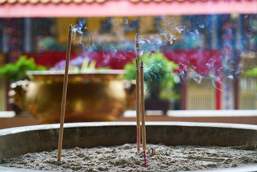 Incense, Deans, Worship, Burn, Smoke, Temple, Asian