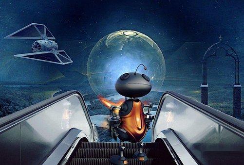Planet, Spaceship, Alien, Space, Fantasy