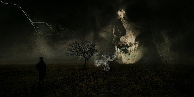 Spirit, Ghost, Nightmare, Skull And Crossbones
