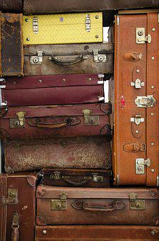 Case, Retro, Handle, Luggage, Vintage, Suitcases