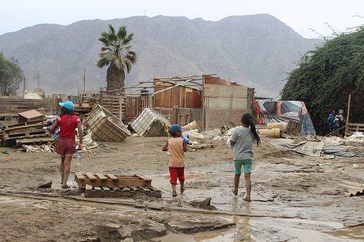 People, Travel, Children, Natural Disaster, Mud, Sand