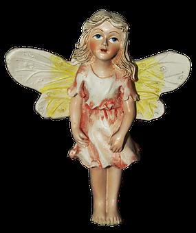 Fee, Elf, Wing, Vintage, Fairy, Fae, Ceramic, Woman