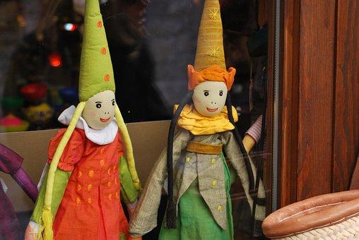Toys, Tolls, Puppets, Antique, Shop Window, Craft