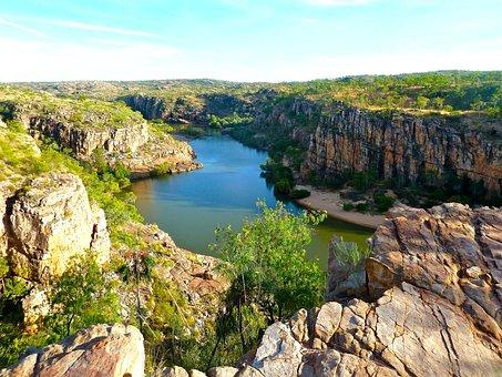 Canyon, Australia, River, Environment, Landmark