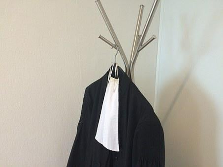 Gown, Lawyer, Bef, Coat Hanger