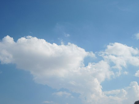 White, Clouds, Blue, Sky, Fluffy, Cloudy, Atmosphere