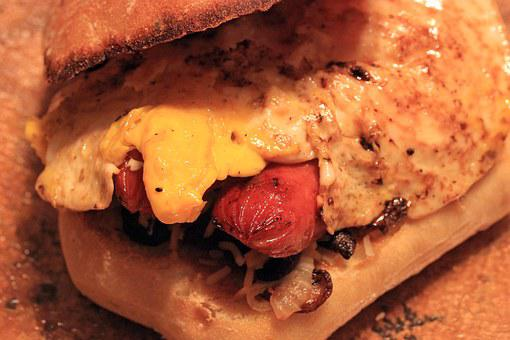 Toast, Bread, Toasted, Brown, Egg, Fried, Hot Dog, Bun