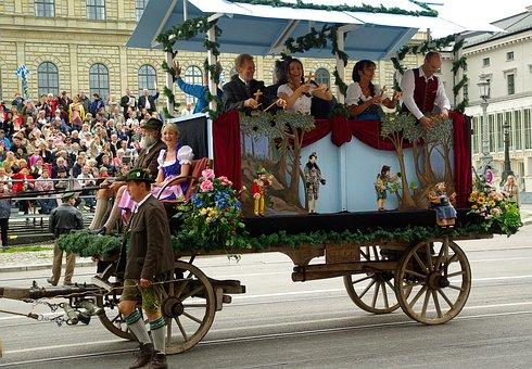 Munich, Parade, Oktoberfest, Puppets, Char
