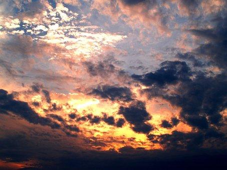 Clouds, Cloudy, Sky, Dark, Cloudscape, Sunlight