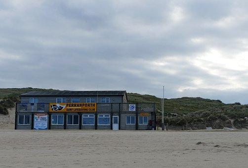 Beach, Perranporth, Sea, Cornwall, Coast, England