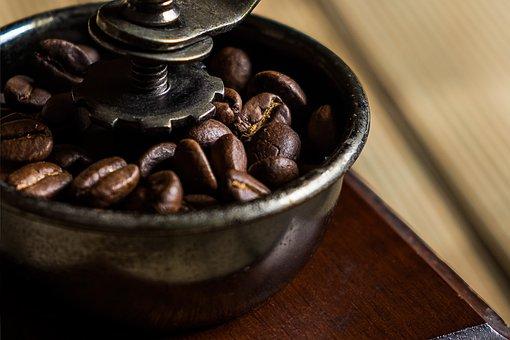 Coffee, Grinder, Coffee Bean, Brown, Coffee Grains