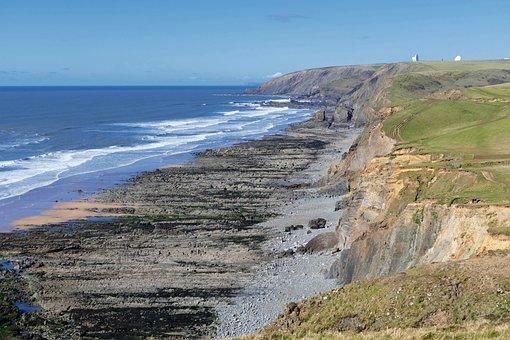 Sandymouth Beach, Cornwall, England, Britain, Uk