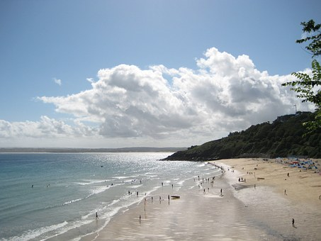 Carbis Bay Beach, St Ives, Cornwall, Sand, Sun Bathe