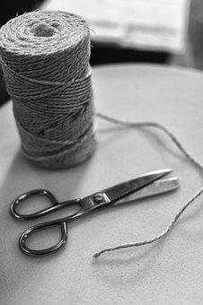 Thread, Scissors, Craft, Fact, Hand