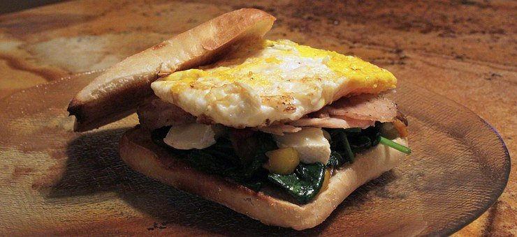 Egg, Pork, Spinach, Brie, Mushroom, Cheese, Cuisine