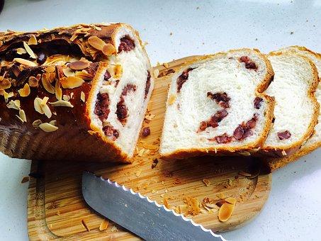 Bread, Toast, Cut Bread, Toast Almonds Beans