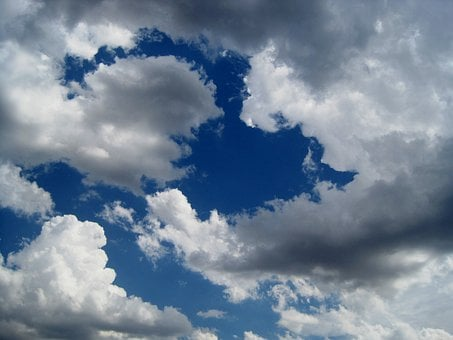 Clouds, White, Fluffy, Blue, Sky, Cloudy, Day, Weather