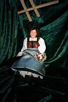 Puppet, Doll, Costume, Dirndl, Children Toys, Puppeteer