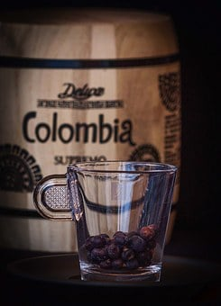 Colombia, Coffee, Cup, Coffee Grains, Dry, Toasted