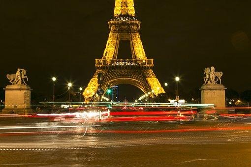Paris, Effie Hilton Iron Tower, Night View