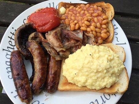 English Breakfast, Breakfast, Tomato, Sausage