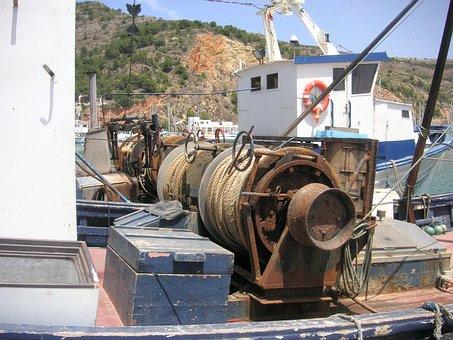 Winch Gear, Fishing, Mechanics, Mechanical, Equipment