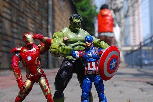 Toy, Figures, Shanghai, Street, Comics, Iron Man