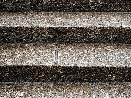 Step, Stone, Wet, Level, Layer, Flight, Climb, Advance