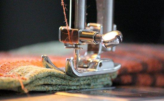 Sewing Machine, Foot, Yarn, Sew, Thread, Coiled