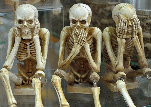 Skeletons, Funny, Hear No Evil, Speak No Evil