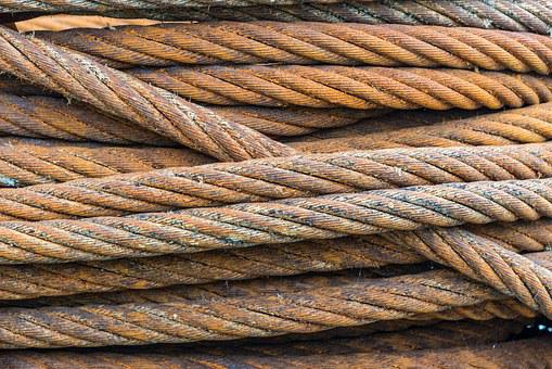 Wire, Wire Rope, Rust, Industry, Heavy, Coil, Strength