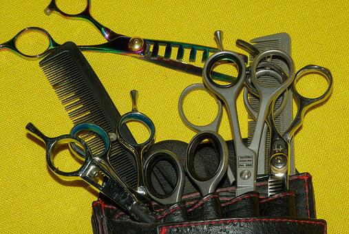Hairdresser, Scissors, Combs, Kit