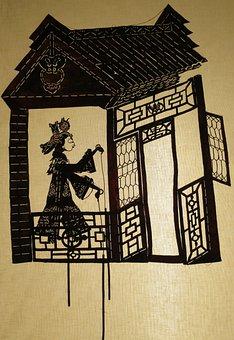 Lady, Young, House, Shadow, Puppets, Jilin, Lin, Liu