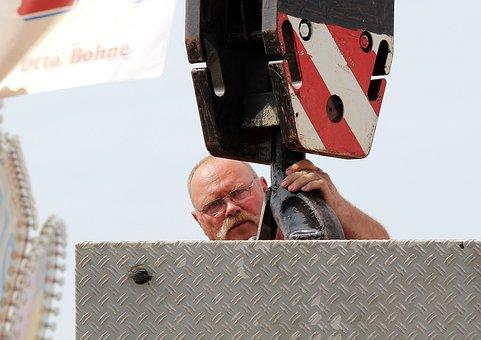 Man, Load Crane, Hook, Industrial Crane, Lifting Crane