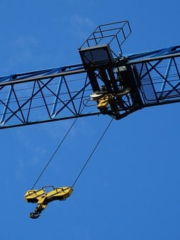 Winch, Crane, Load Crane, Skyward, In The Height, Sky
