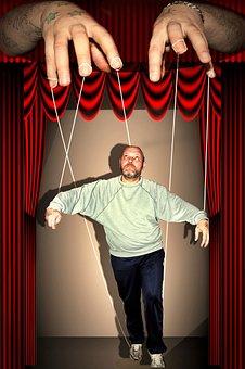 Hands, Man, Stage, Presentation, Keep, Puppet