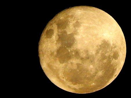 Astro, Waning, Moonlight, Ceu, Moon, Night