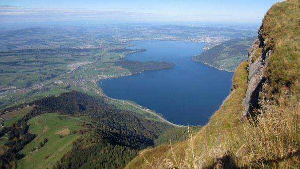 Mountain, View, Plateau, Lake, Villages, Nature