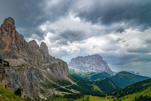 Dolomites, Landscape, Mountains, Nature, Italy, Alpine