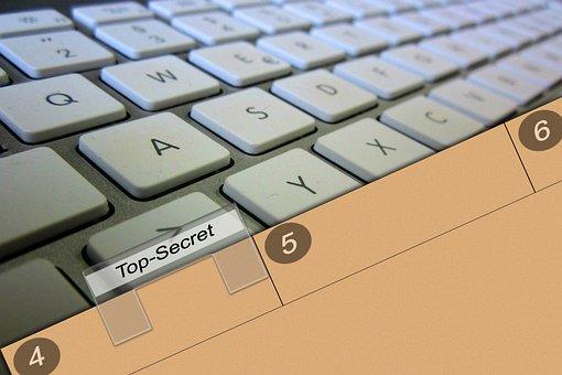 Keyboard, Folder, Shield, Secret, File, Office
